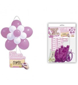 DECO KIT FLOR COMUNION ROSA