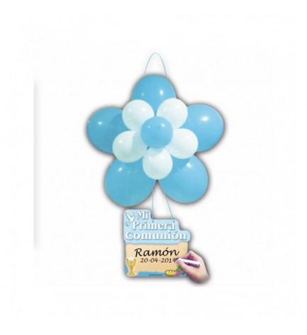 DECO KIT FLOR COMUNION AZUL