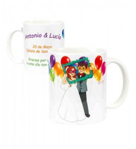 TAZA NOVIOS PARTY PERSONALIZADA