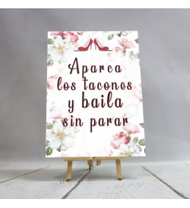 Cartel tacones Flower