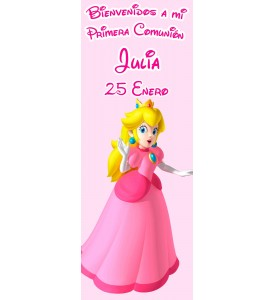 Banner Comunion Princesa Peach